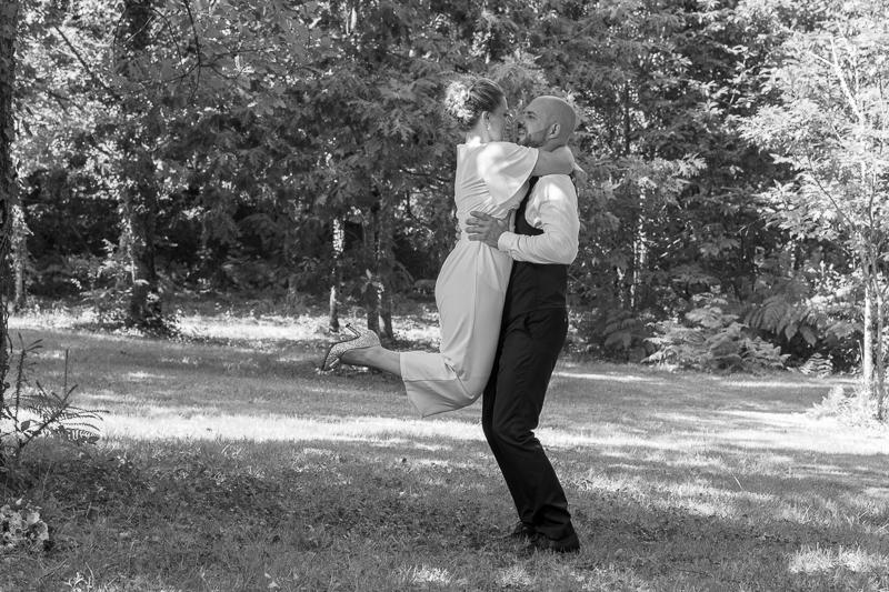 Couple en noir et blanc