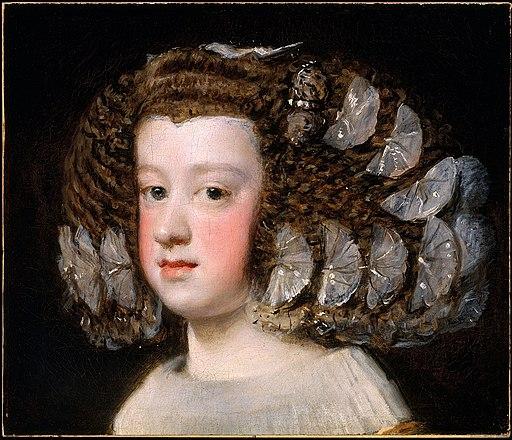 Portrait de l'infante Marie-Thérèse par Velazquez